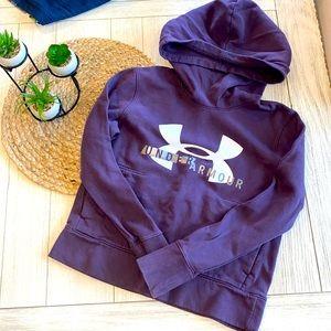 Under Armour Girls purple hooded sweatshirt XS